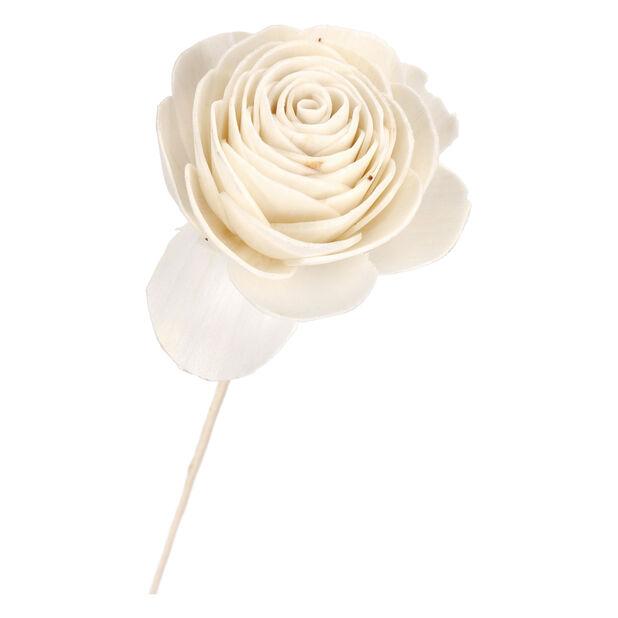 Paperikukka Ruusu, Korkeus 85 cm, Luonnonvalkoinen