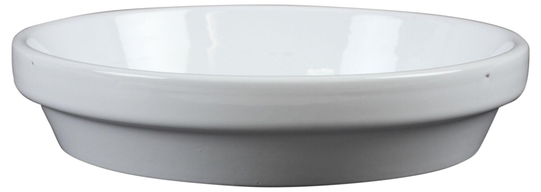 Keraaminen aluslautanen, Ø13 cm, Valkoinen