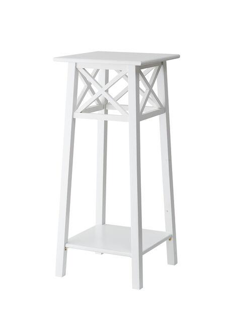 Kukkapylväs Britta, Korkeus 80 cm, Valkoinen