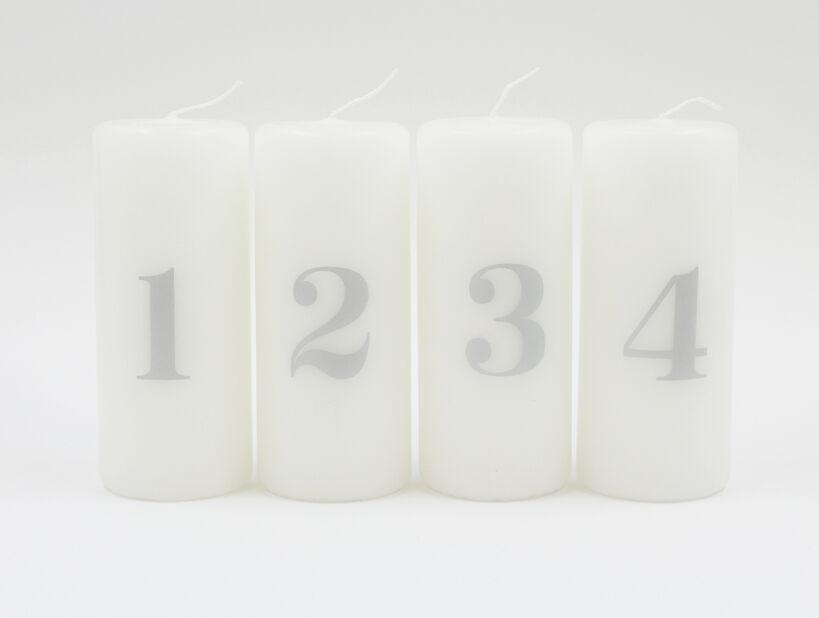 Adventtikynttilät pöytäkynttilät 4 kpl, Korkeus 12 cm, Monivärinen
