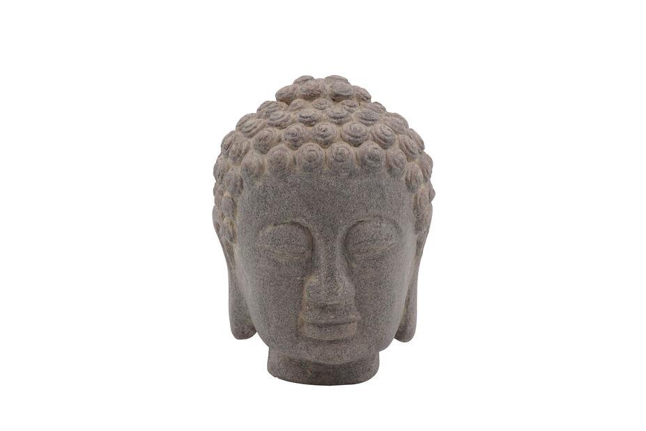 Buddhan pää , Korkeus 16 cm, Harmaa