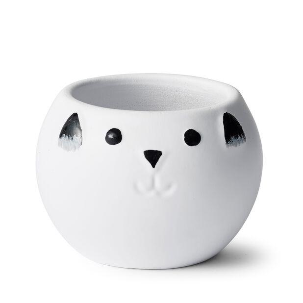 Miniruukku kissa, Ø10 cm, Valkoinen