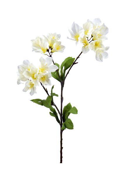 Orkideaoksa tekokasvi, Pituus 70 cm, Valkoinen