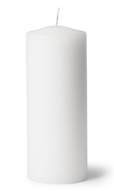 Pöytäkynttilä, Korkeus 20 cm, Valkoinen