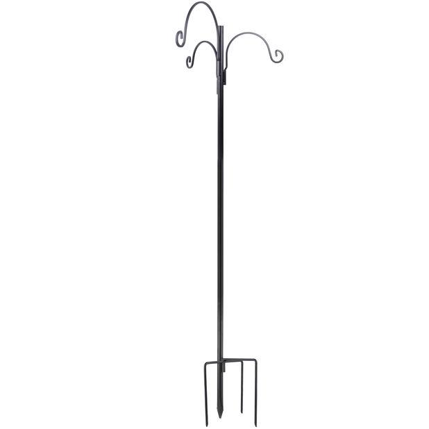 Linnunruokintateline, Korkeus 240 cm, Musta