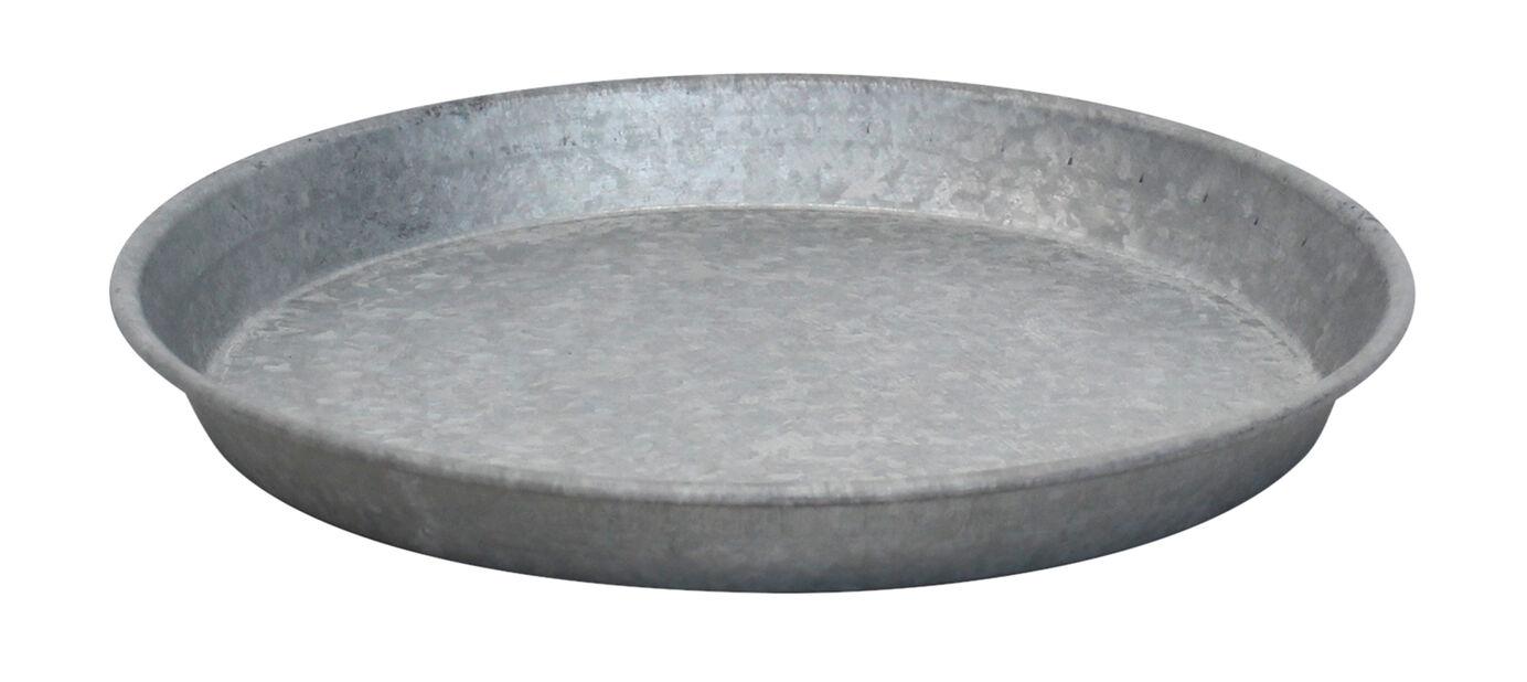 Aluslautanen sinkkiä, Ø28 cm, Harmaa