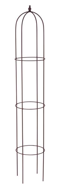 Obelisk kasvituki, Korkeus 140 cm, Ruoste