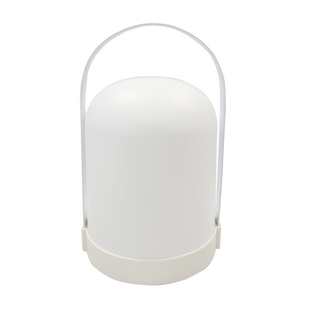 Alcor ulkona pöytävalaisin, Korkeus 22 cm, Valkoinen