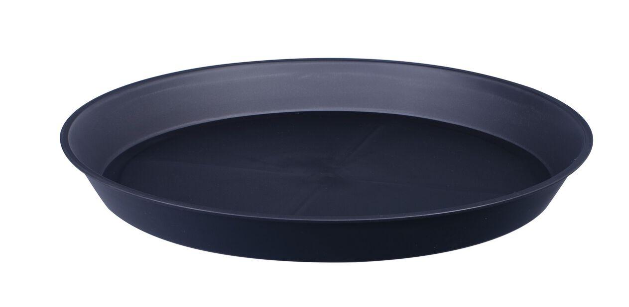 Aluslautanen Floria, Ø21 cm, Musta