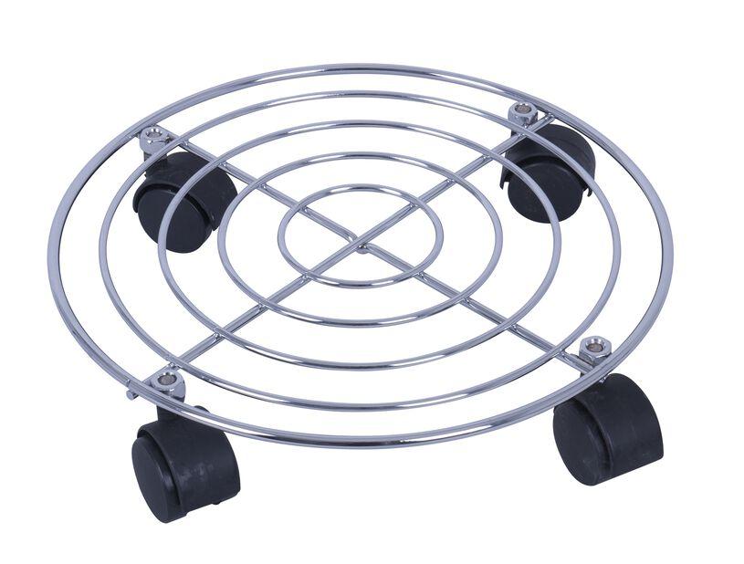 Ruukunalusta renkailla, Ø30 cm, Hopea