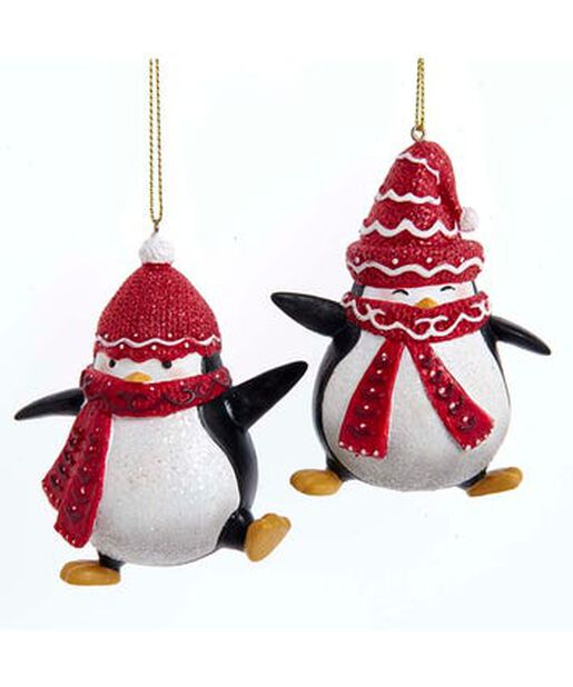 Joulukoriste pingviinit, Korkeus 6 cm, Monivärinen