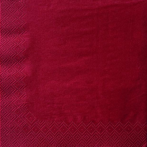 Jouluservetti Punainen, Ø40 cm, Punainen