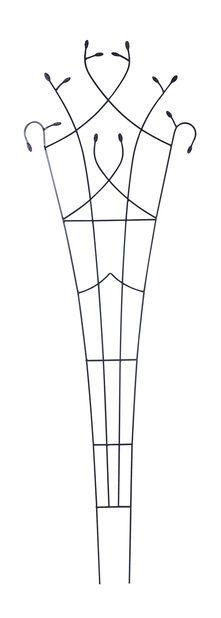 Köynnössäleikkö metallia musta203x66cm cm