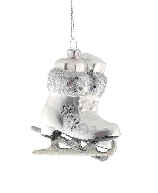 Kuusenkoriste Luistimet, Korkeus 10 cm, Valkoinen