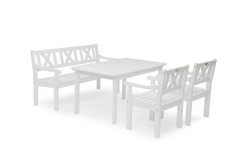 Ruokailuryhmä Läckö, 4 istumapaikkaa, Valkoinen