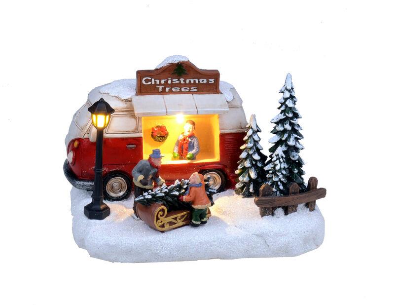 Joulukoriste joulukuusimyyjä, Korkeus 14 cm, Monivärinen