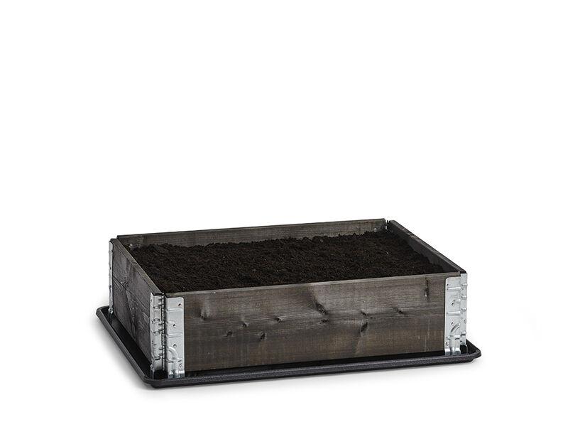 Istutuslaatikko, Pituus 80 cm, Musta
