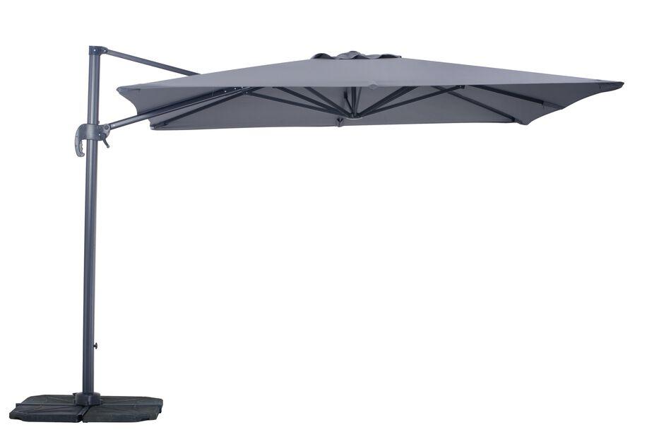 Aurinkovarjo Roma, Pituus 300 cm, Harmaa
