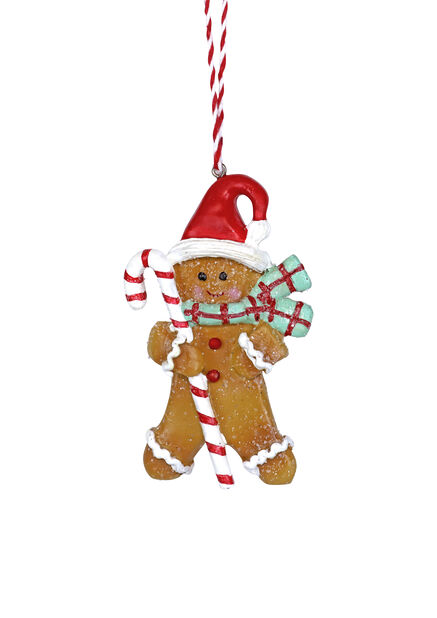 Joulukoriste piparkakku-ukko, Korkeus 10 cm, Keltainen