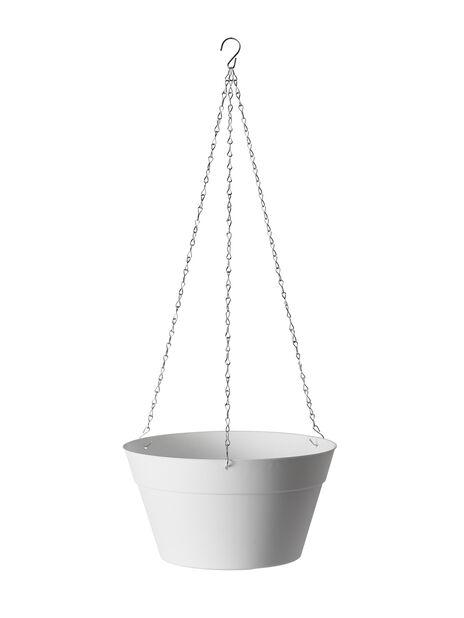 Amppeliruukku Felicia, Ø30 cm, Valkoinen