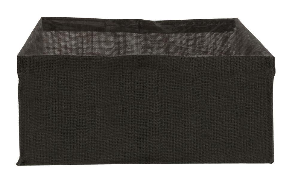 Kuitukangas pitkään Cultura-istutuslaatikkoon, Pituus 118 cm, Musta