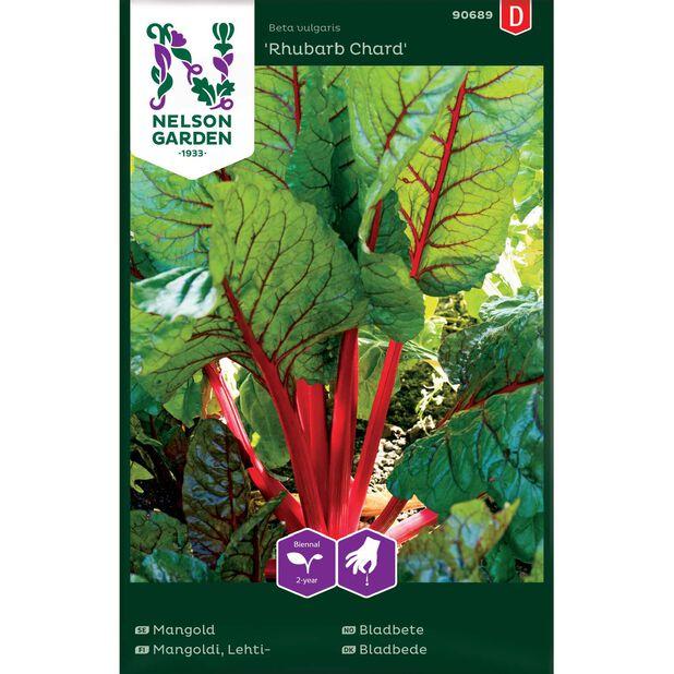 Lehtimangoldi 'Rhubarb Chard', Monivärinen