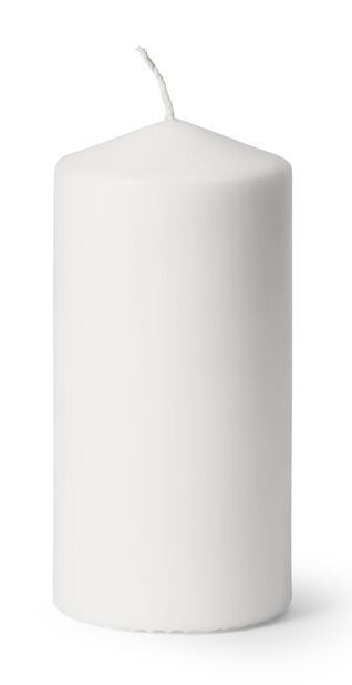 Pöytäkynttilä, Korkeus 14 cm, Valkoinen