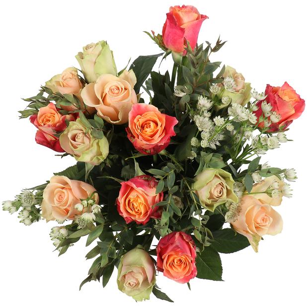 Kimppu 'Pretty roses', Korkeus 50 cm, Monivärinen