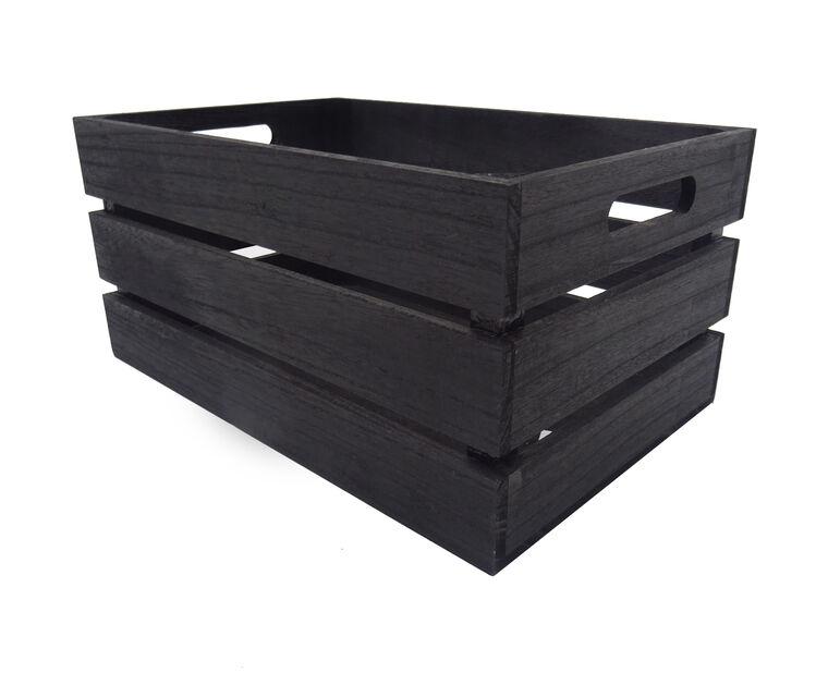 Puulaatikko, Pituus 36 cm, Musta