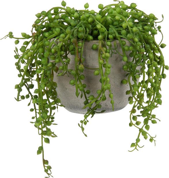 Tekoviherkasvi ruukussa, Korkeus 18 cm, Vihreä