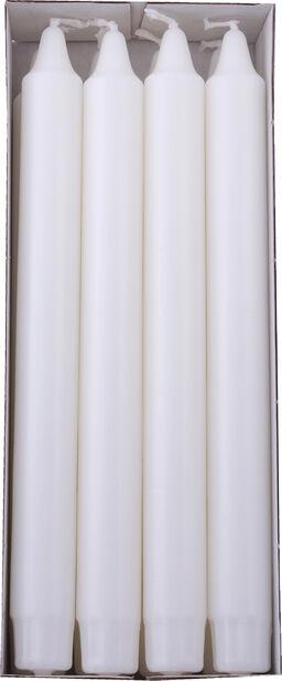 Kruunukynttilät 8 kpl, Pituus 24 cm, Valkoinen