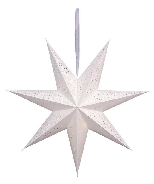 Ella-paperitähti, Pituus 90 cm, Valkoinen