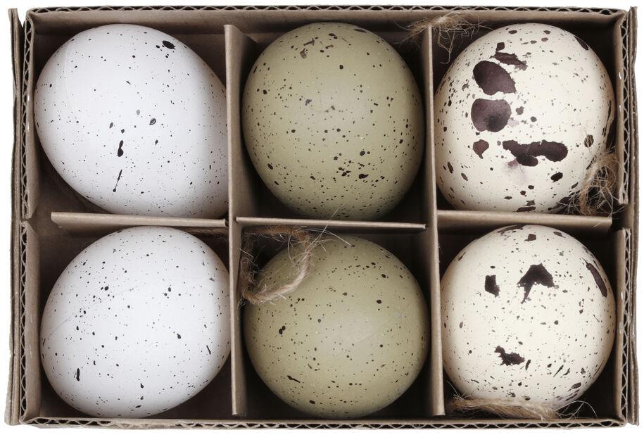 Pääsiäiskoriste ripustettava muna, Korkeus 5 cm, Useita värejä