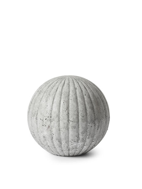 Koristepallo, Korkeus 14 cm, Harmaa