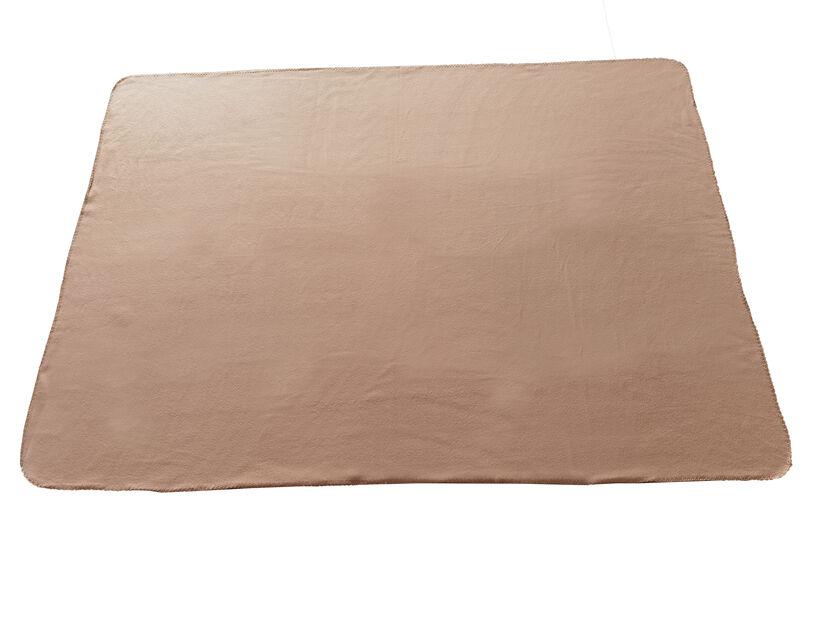 Fleece-huopa, Pituus 175 cm, Ruskea
