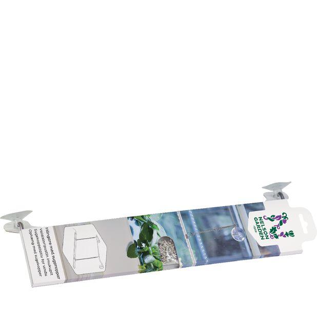 Kasvivalaisimen ripustin, imukupit, Pituus 40 cm, Valkoinen