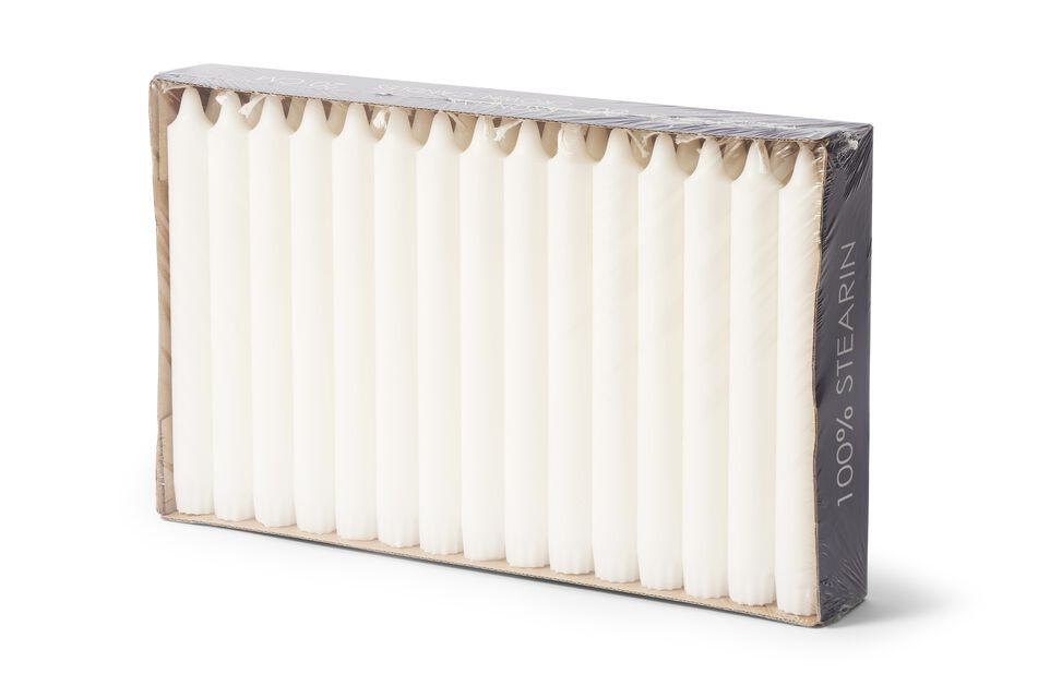Kruunukynttilät 30 kpl, Korkeus 20 cm, Valkoinen