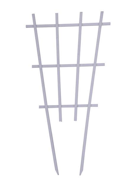 Säleikkö puiselle ruukulle, Korkeus 55 cm, Valkoinen