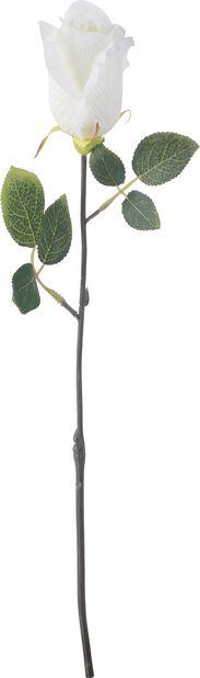 Leikkoruusu tekokasvi, Korkeus 45 cm, Valkoinen