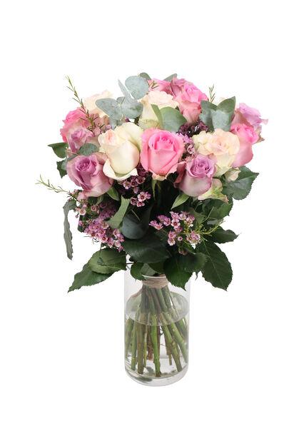 Kimppu Sweet roses, Korkeus 50 cm, Monivärinen