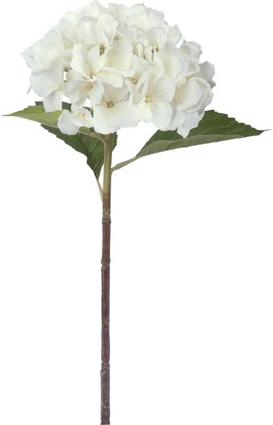 Leikkohortensia tekokasvi, Korkeus 51 cm, Hopea