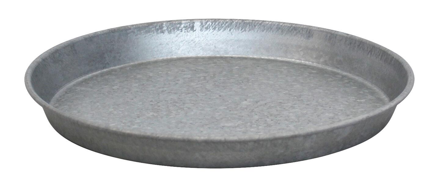 Aluslautanen sinkkiä, Ø30 cm, Harmaa