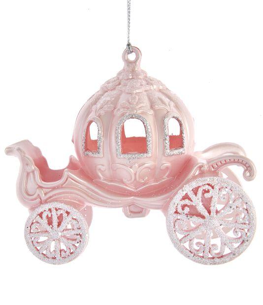 Joulukoriste vaunu, Korkeus 13 cm, Pinkki