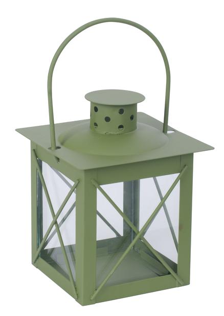 Lyhty Pia 10x10x13cm metallia, vihreä