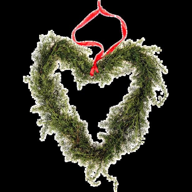 Wreath hanging heart  40cm