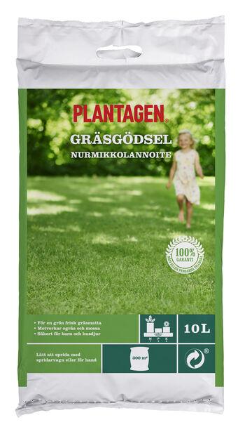 Plantagen Nurmikkolannoite, 10 L, Monivärinen