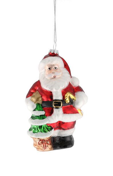 Kuusenkoriste Joulupukki, Korkeus 13 cm, Monivärinen