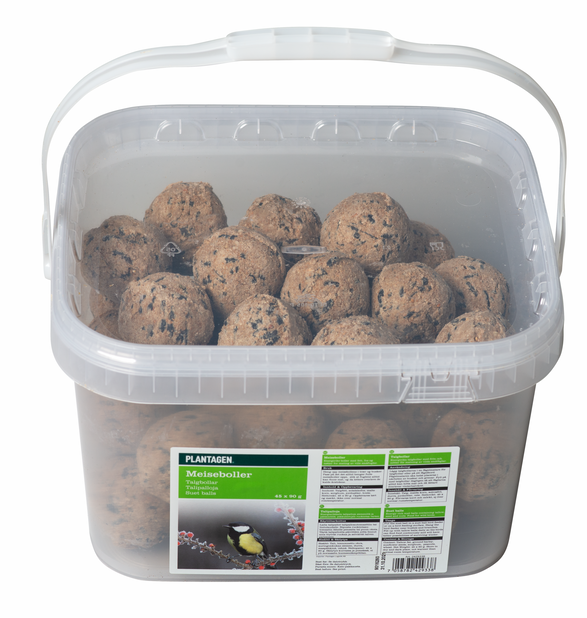 Suet balls in a bucket, 45 PCS