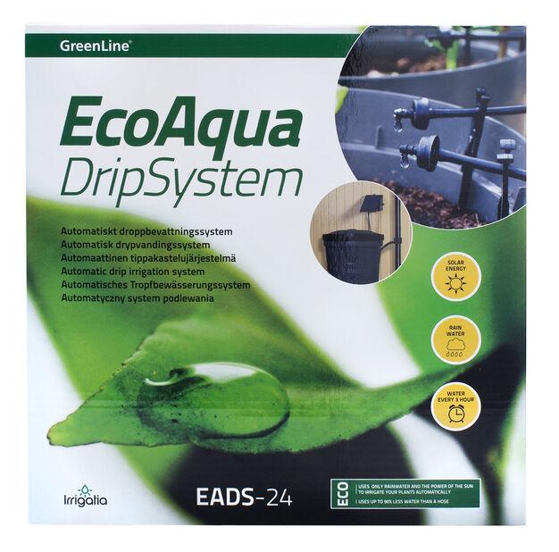 Eco Aqua automaattinen tippakastelujärjestelmä EADS-12, Musta