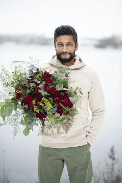 Ruusut premium Fairtrade 10-pakk, Korkeus 50 cm, Punainen